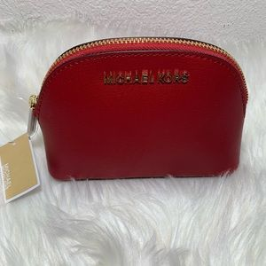 Michael Kors Red Jet Set Travel Pouch